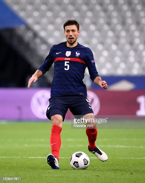 France's defender Clement Lenglet plays the ball during the UEFA Nations League Group C football match between France and Croatia on September 8 2020...