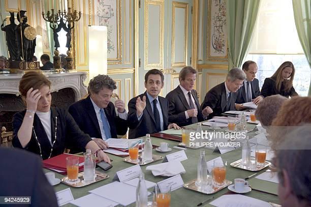 France's deputy minister for Ecology Chantal Jouanno, Ecology Minister Jean-Louis Borloo, France's President Nicolas Sarkozy, Foreign Affairs...