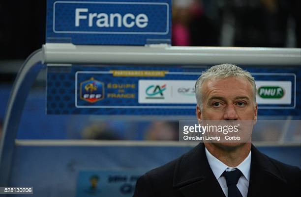 France's Didier Deschamps during the FIFA 2014 World Cup qualifying round group I soccer match, France Vs Spain at Stade de France in Saint-Denis...