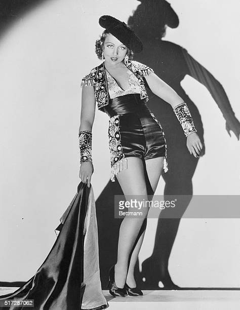 Frances Drake does a bullfighter's dance in The Trumpet Blows a new Paramount picture in which she plays the feminine lead