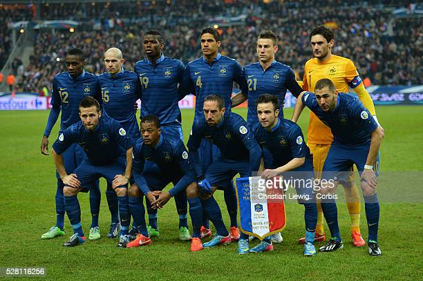 France's during the FIFA 2014 World Cup qualifying round group I soccer match France Vs Spain at Stade de France in SaintDenis suburb of Paris France...