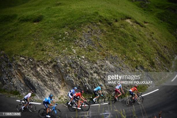 France's Elie Gesbert Spain's Carlos Verona France's Romain Sicard Germany's Lennard Kamna Spain's Luis Leon Sanchez Russia's Ilnur Zakarin and...
