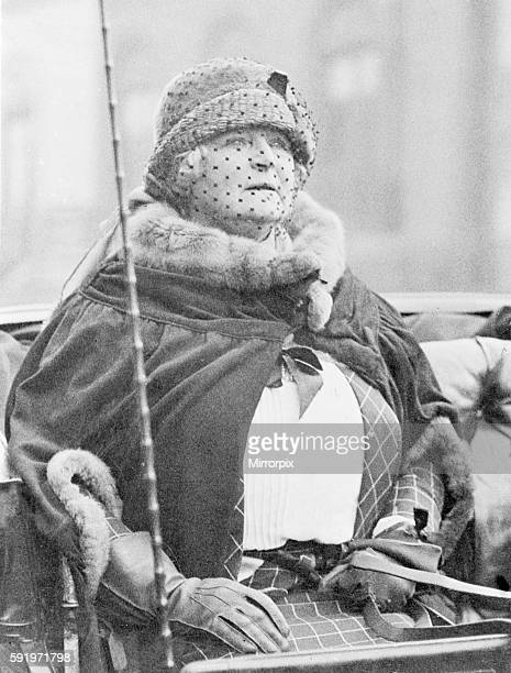 Frances Evelyn Daisy Greville Countess of Warwick during the election campaign in Warwick and leamingtom constituency where she stood as Labour...