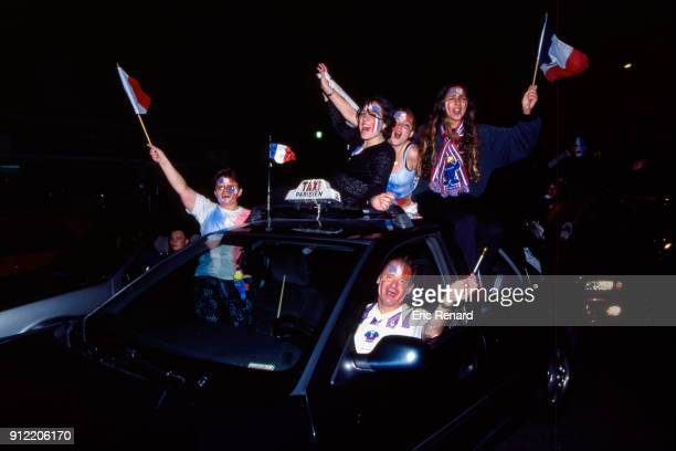 France's Fans after the Soccer World Cup Final between Brazil and France on July 12 1998 in Paris Saint Denis France Eric Renard / Onze / Icon Sport