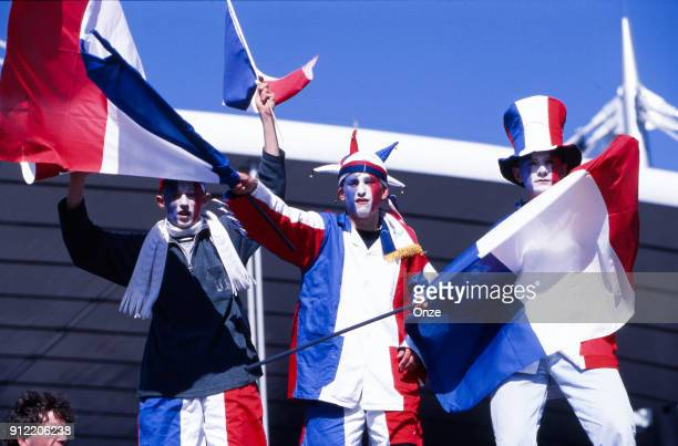 France's Fans before the Soccer World Cup Final between Brazil and France on July 12 1998 in Paris Saint Denis France Christian Gavelle / Onze / Icon...