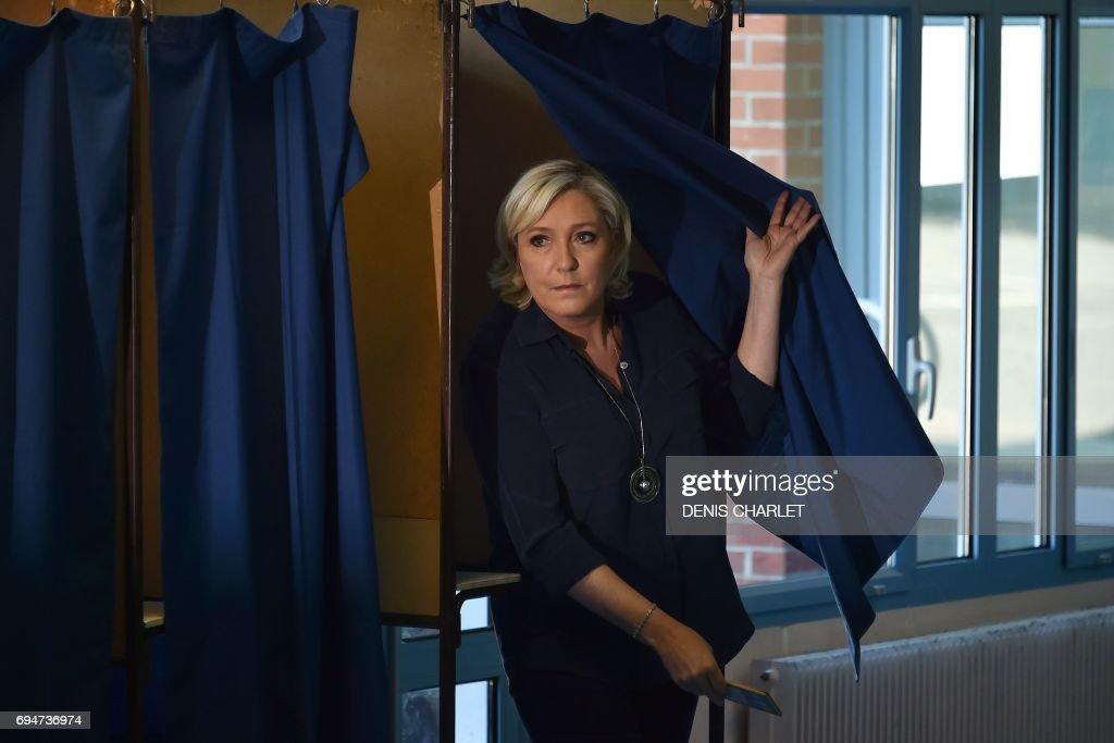 FRANCE2017-VOTE-LEGISLATIVE-FN : News Photo