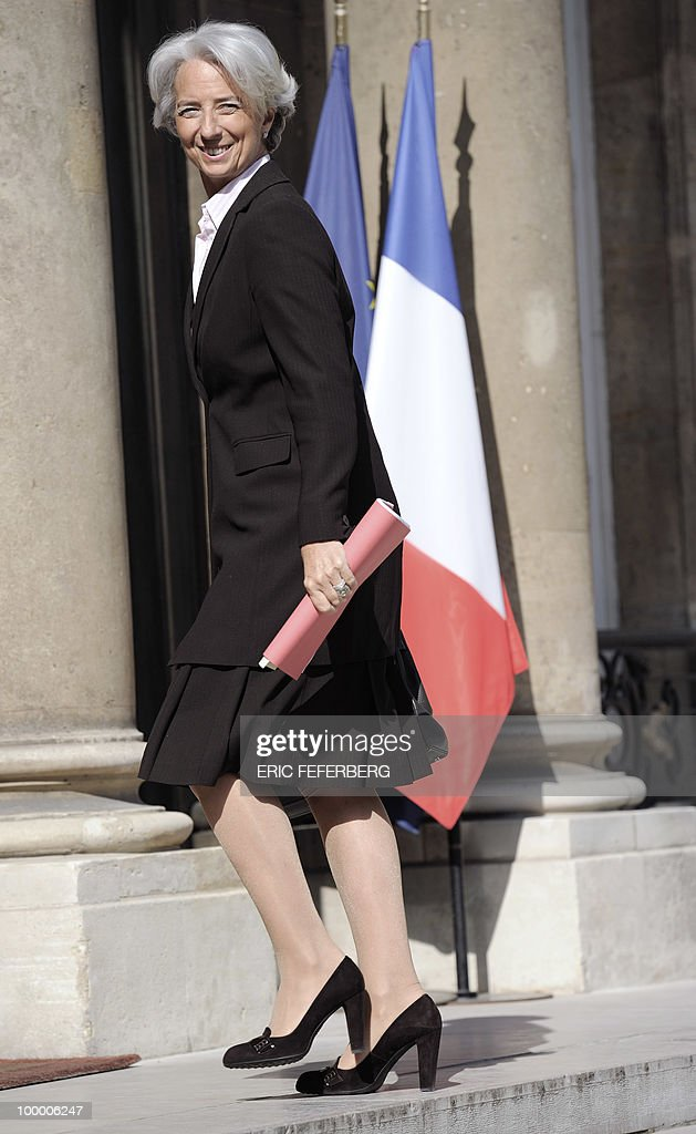 France's Finance Minister Christine Lagarde arrives at the Elysee Palace on May 20, 2010 in Paris to attend a second meeting on public deficit with French President Nicolas Sarkozy.