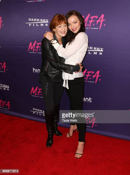 Frances Fisher and daughter Francesca Eastwood at the premiere of Dark Sky Films' 'MFA' at The London West Hollywood on October 2 2017 in West...