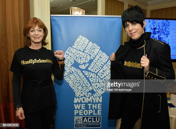 Frances Fisher and Diane Warren attend ACLU SoCal Hosts Annual Bill of Rights Dinner at the Beverly Wilshire Four Seasons Hotel on December 3 2017 in...