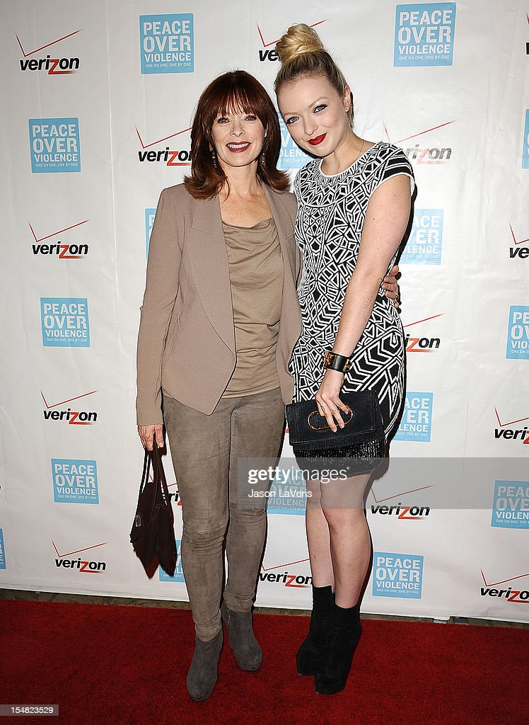 Frances Fisher and Francesca Eastwood attend the 41st annual Peace Over Violence Humanitarian Awards at Beverly Hills Hotel on October 26, 2012 in Beverly Hills, California.