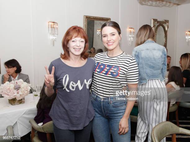 Frances Fisher and Sophia Bush attend an intimate luncheon with Joy Nash Marti Noxon and Aisha Tyler hosted by AMC in Celebration of Their New...