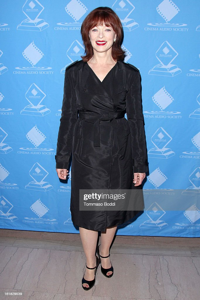 Frances Fisher attends the 49th annual Cinema Audio Society Awards held at Millennium Biltmore Hotel on February 16, 2013 in Los Angeles, California.
