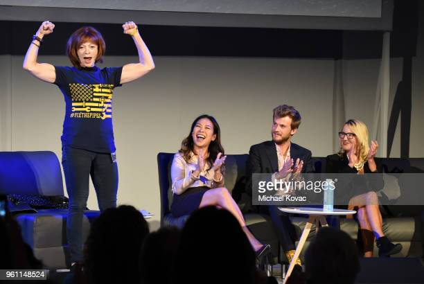 Frances Fisher CEO of Team Green For All and The Dream Corps Vien Truong International Operations Director for ClimateForce Barney Swan Brittingham...