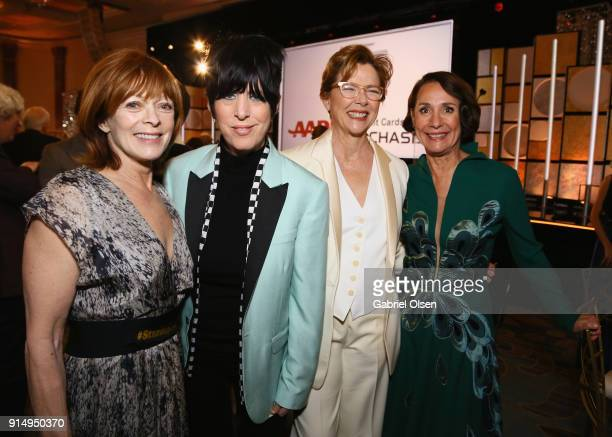Frances Fisher Diane Warren Annette Benning and Laurie Metcalf attend AARP The Magazine's 17th Annual Movies For Grownups Awards at the Beverly...