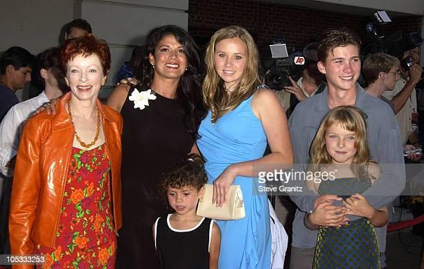 Frances Fisher Dina Eastwood and kids Scott Kathryn Francesca Morgan