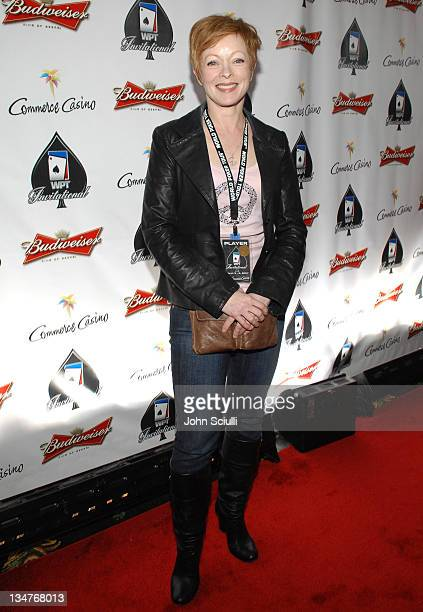 Frances Fisher during 2007 World Poker Tour Celebrity Invitational Red Carpet at Commerce Casino in Commerce California United States