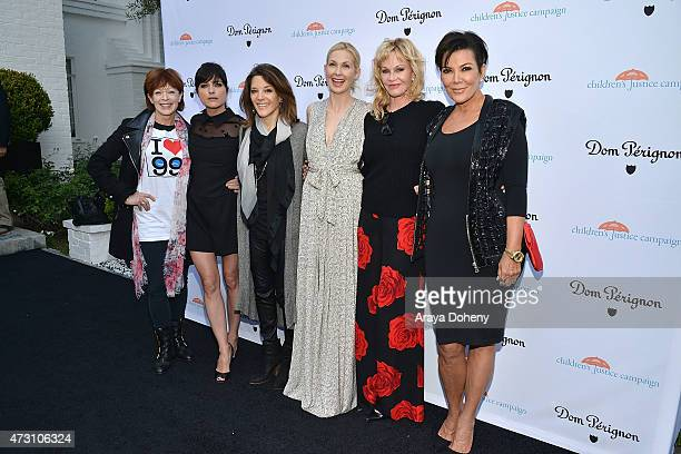 Frances Fisher, Selma Blair, Marianne Williamson, Kelly Rutherford, Melanie Griffith and Kris Jenner attend the Children's Justice Campaign event on...
