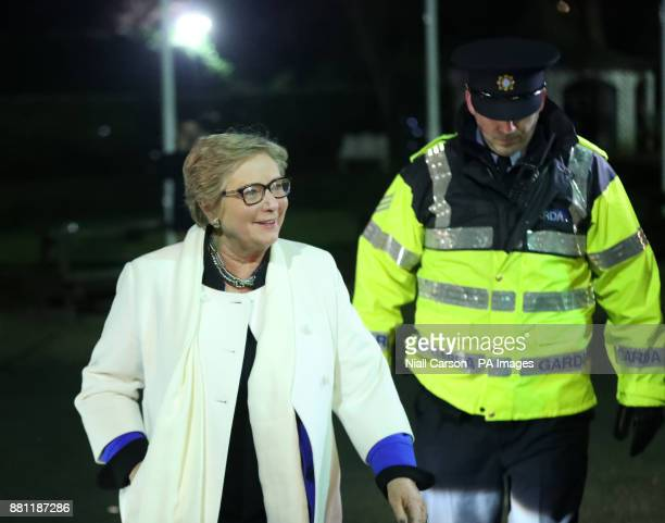 Frances Fitzgerald arrives at the Finnstown Castle Hotel in Dublin to attend the Fine Gael Dublin West Selection Convention after resigning as...