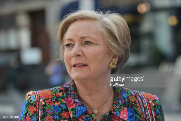 Frances Fitzgerald the Irish Tánaiste and Minister for Justice and Equality arrives to the Mansion House in Dublin ahead of the new leader of Fine...