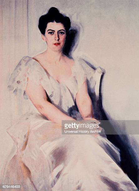 Frances Folsom Cleveland First Lady of the US and Wife of President Grover Cleveland Portrait Painting by Anders Zorn 1899