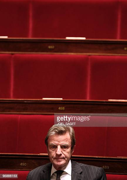 France's Foreign Affairs minister Bernard Kouchner attends a session of questions to the government at the National Assembly in Paris on January 19...