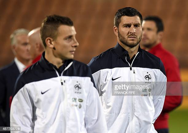 France's forward Andre Pierre Gignac waits for the start of a friendly football match between Armenia and France at the Republican Stadium in Yerevan...
