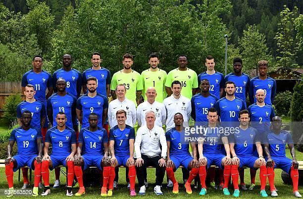 France's forward Anthony Martial forward Dumitri Payet defender Adil Rami goalkeeper Benoit Costil goalkeeper Hugo Lloris goalkeeper Steve Mandanda...