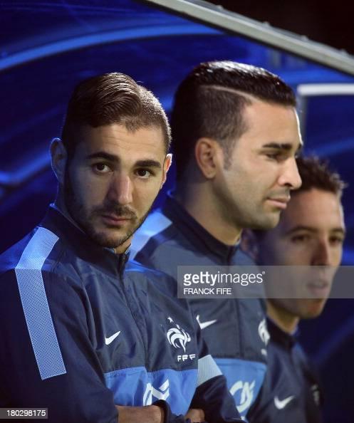 Adil Rami: France's Forward Karim Benzema And France's Defender Adil