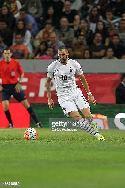 France's forward Karim Benzema during the Friendly match between Portugal and France on September 04 2015 in Lisbon Portugal