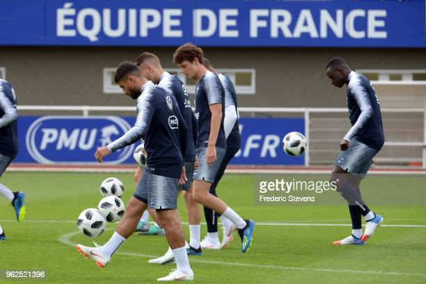 France's forward Nabil Fekir during a training session at the French national football team centre in ClairefontaineenYvelines on May 25 2018 in...