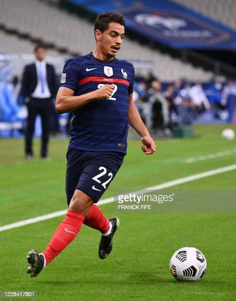 France's forward Wissam Ben Yedder plays the ball during the UEFA Nations League Group C football match between France and Croatia on September 8...