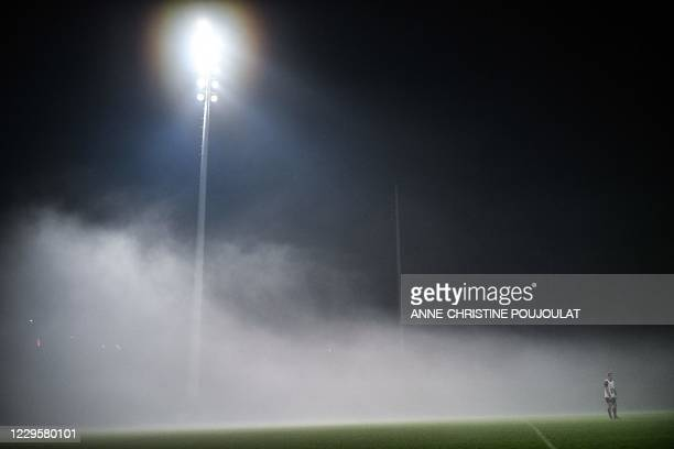 France's full back Thomas Ramos attend a training session on November 11, 2020 in Marcoussis, southern Paris, five days ahead of the friendly rugby...