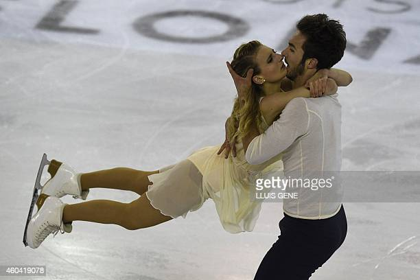 France's Gabriella Papadakis and Guillaume Cizeron perfom during the pairs Free Ice Dance at the ISU Grand Prix of figure skating Final 2014 in the...