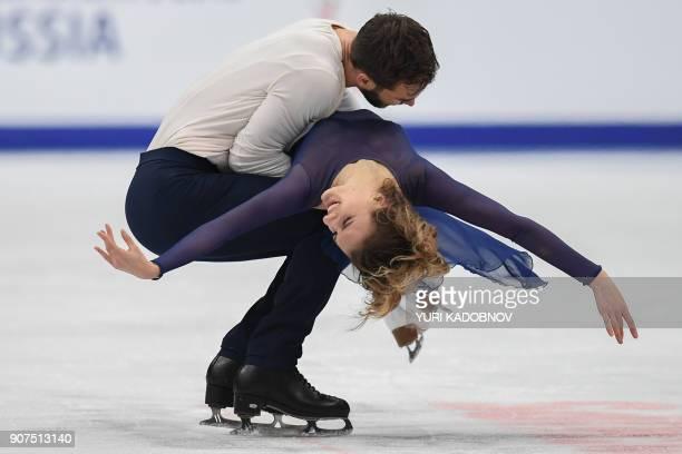 TOPSHOT France's Gabriella Papadakis and Guillaume Cizeron perform during their ice dance free dance at the ISU European Figure Skating Championships...
