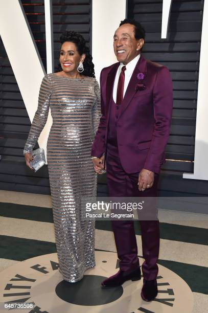 Frances Glandney and recording artist Smokey Robinson attend the 2017 Vanity Fair Oscar Party hosted by Graydon Carter at Wallis Annenberg Center for...