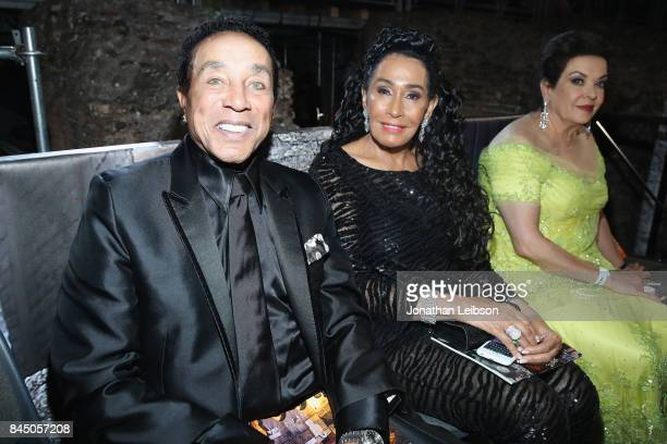 Frances Glandney and Smokey Robinson attend at the Andrea Bocelli show as part of the 2017 Celebrity Fight Night in Italy Benefiting The Andrea...
