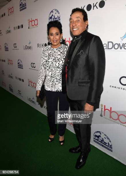 Frances Glandney and Smokey Robinson attend the 4th Hollywood Beauty Awards at Avalon Hollywood on February 25 2018 in Los Angeles California