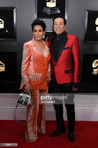 Frances Glandney and Smokey Robinson attend the 61st Annual GRAMMY Awards at Staples Center on February 10 2019 in Los Angeles California