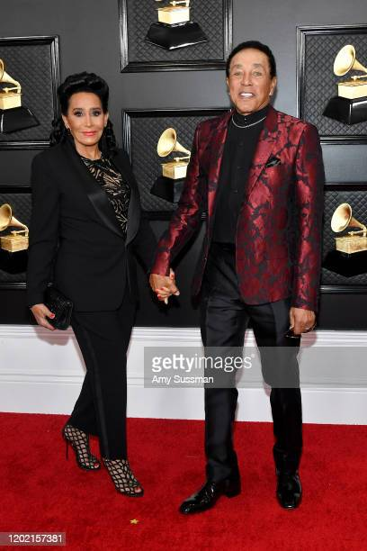 Frances Glandney and Smokey Robinson attend the 62nd Annual GRAMMY Awards at Staples Center on January 26 2020 in Los Angeles California