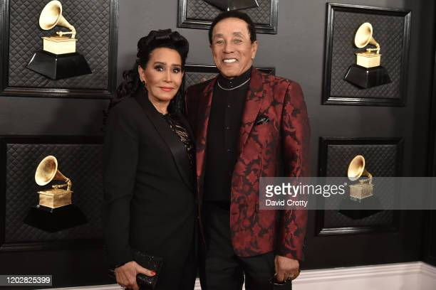 Frances Glandney and Smokey Robinson attend the 62nd Annual Grammy Awards at Staples Center on January 26 2020 in Los Angeles CA