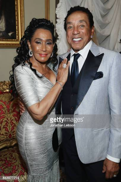 Frances Glandney and Smokey Robinson attend the Dinner and Entertainment at Palazzo Colonna as part of the 2017 Celebrity Fight Night in Italy...