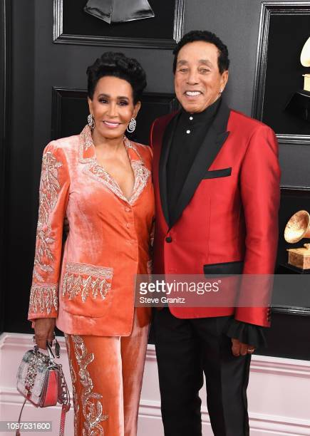 Frances Glandney and Smokey Robinson attends the 61st Annual GRAMMY Awards at Staples Center on February 10 2019 in Los Angeles California