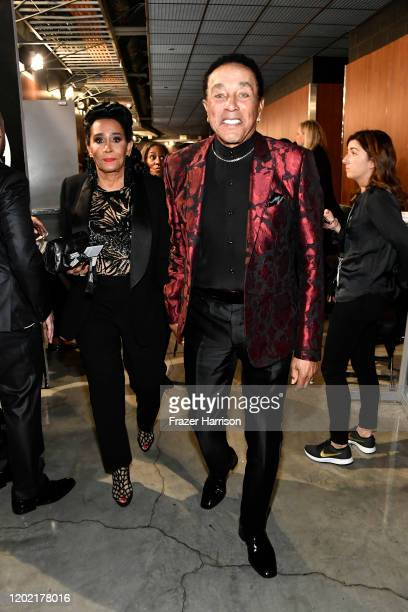 Frances Glandney and Smokey Robinson attends the 62nd Annual GRAMMY Awards at STAPLES Center on January 26 2020 in Los Angeles California