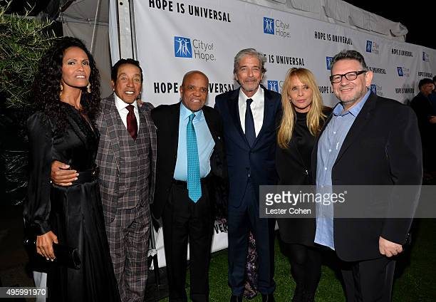 Frances Glandney SingerSongwriter Smokey Robinson producer Berry Gordy Todd Morgan actress Rosanna Arquette and UMG Chairman and CEO Lucian Grainge...