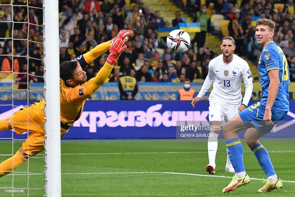 FBL-WC-2022-QUALIFIER-UKR-FRA : News Photo