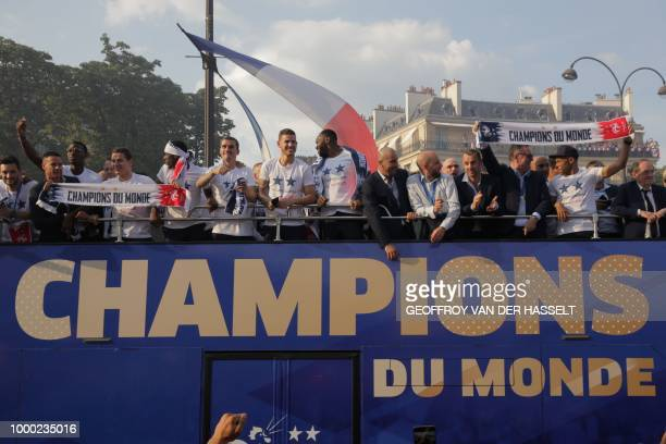 France's goalkeeper Hugo Lloris France's midfielder Paul Pogba France's forward Florian Thauvin France's forward Ousmane Dembele France's forward...