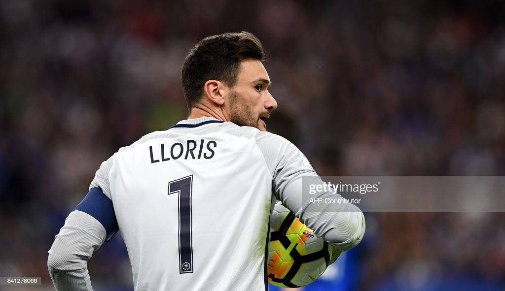 France's goalkeeper Hugo Lloris holds the ball during the 2018 FIFA World Cup qualifying football match France vs Netherlands at the Stade de France in Saint-Denis, north of Paris, on August 31, 2017. /