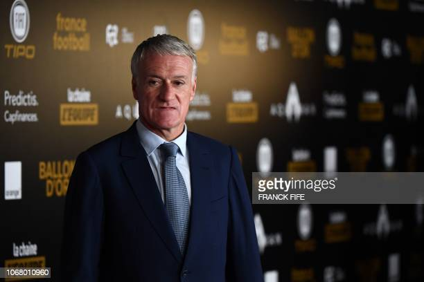 France's head coach Didier Deschamps poses upon arrival at the 2018 Ballon d'Or award ceremony at the Grand Palais in Paris on December 3 2018