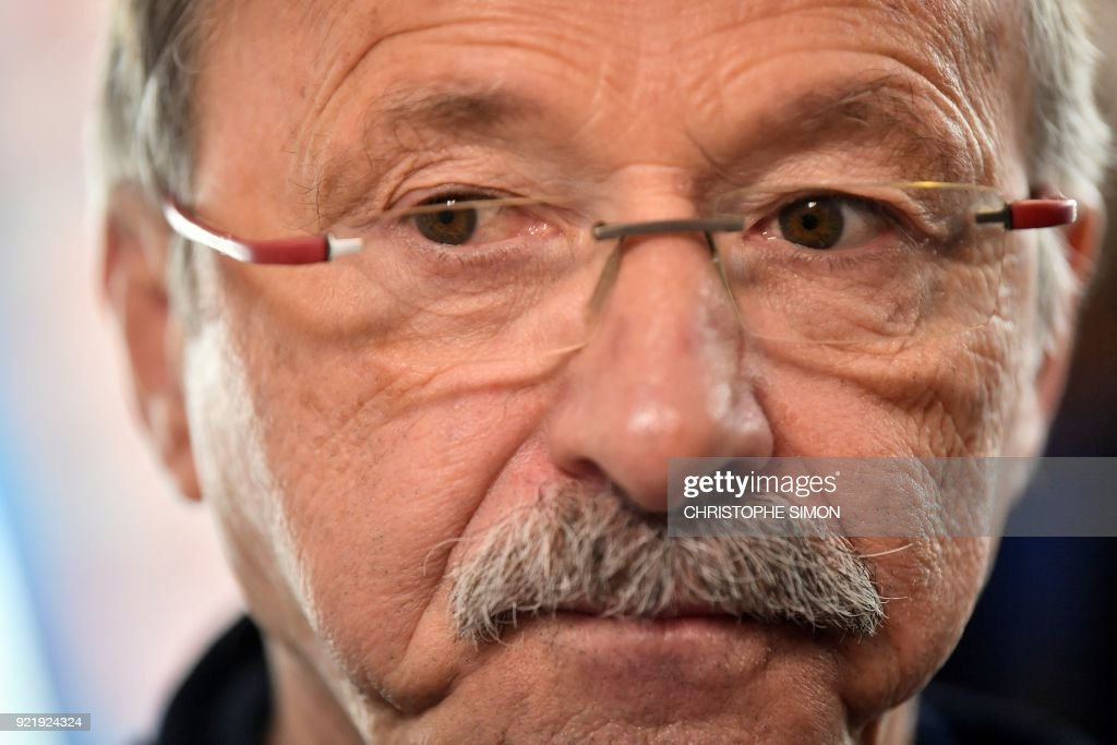 France's head coach Jacques Brunel gives a press conference to announce France Six Nations rugby squad ahead of the Six Nations rugby match against Italy at the Maurice David stadium in Aix-en-Provence on February 21, 2018. /