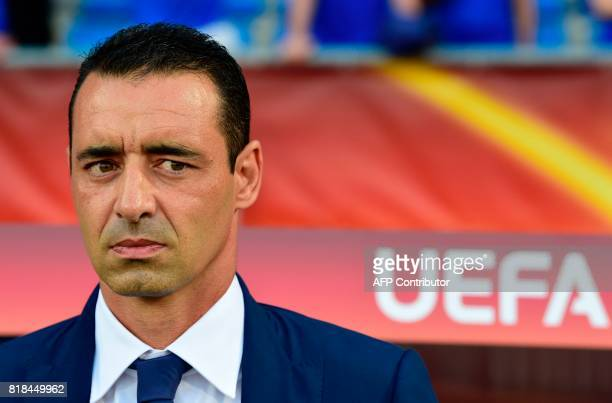 France's head coach Olivier Echouafni attends the UEFA Women's Euro 2017 football tournament match between France and Iceland at Stadium Koning...